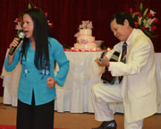 Singer Khanh Ly and Huynh Trong Tam